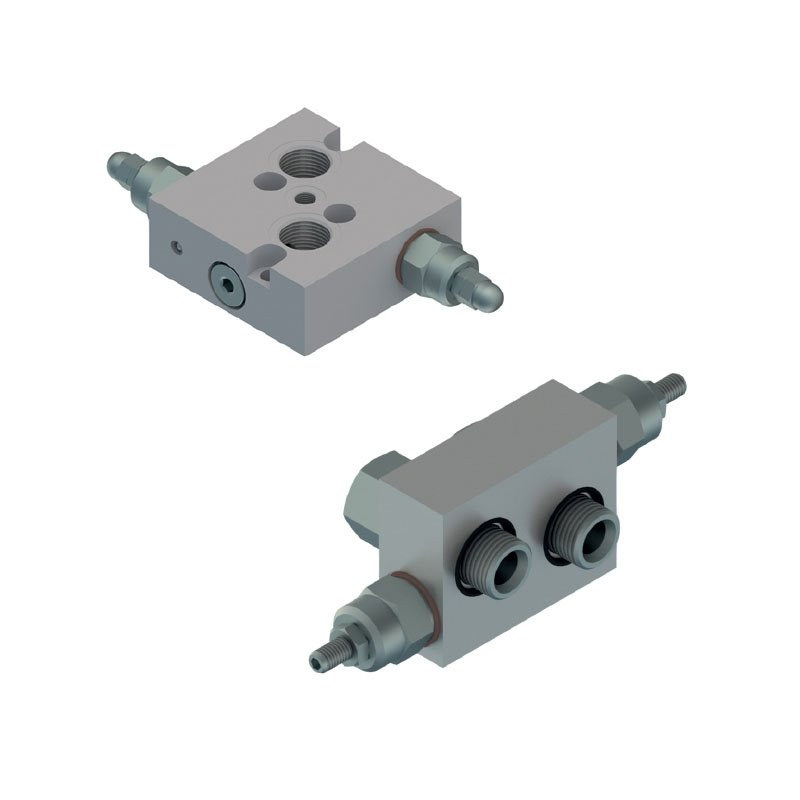 Relief valves with motor flangeable body