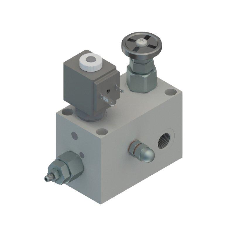 Integrated blocks solenoid operated